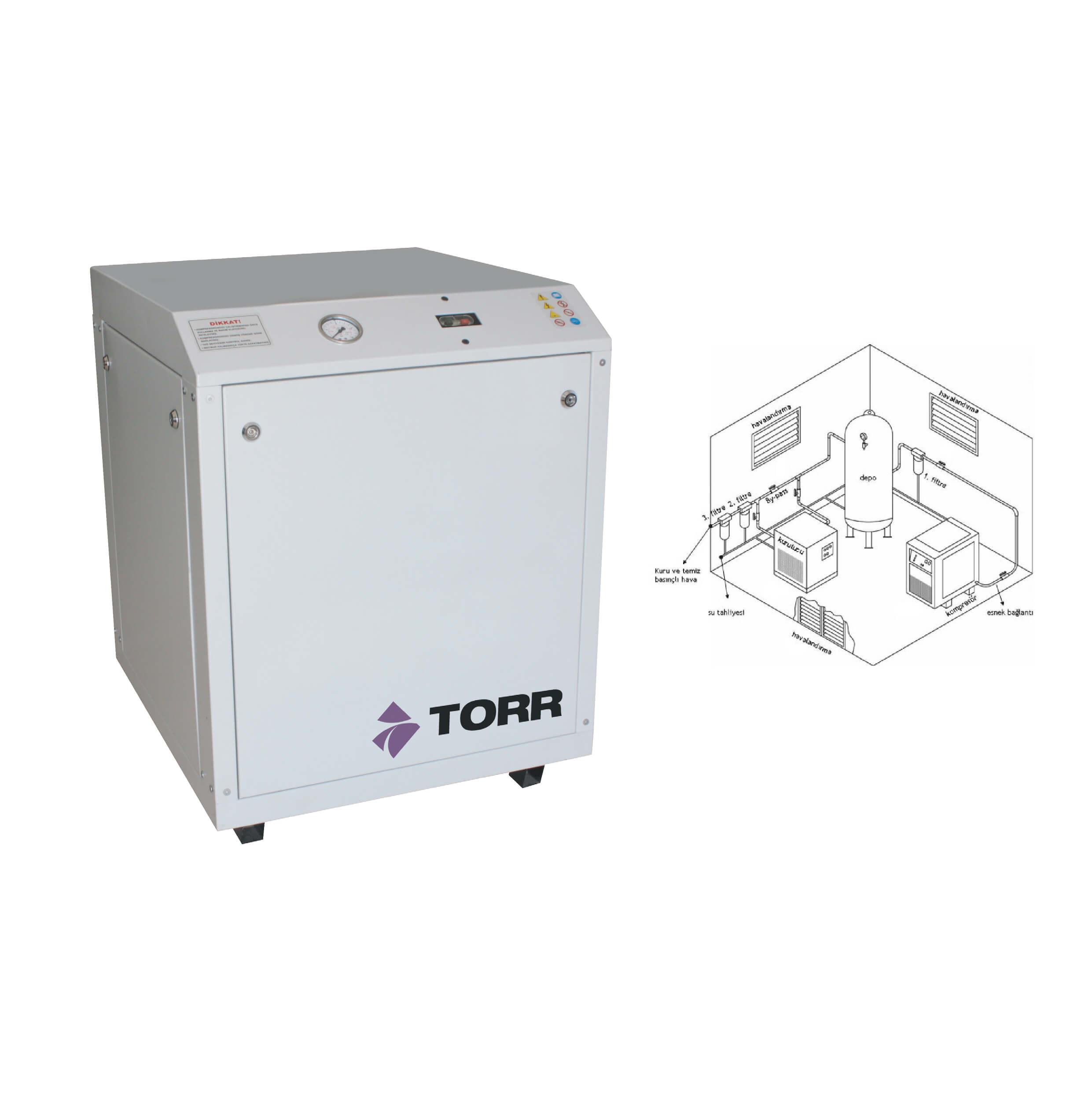 Torr Silent Sessiz Hava Kompresörü-01