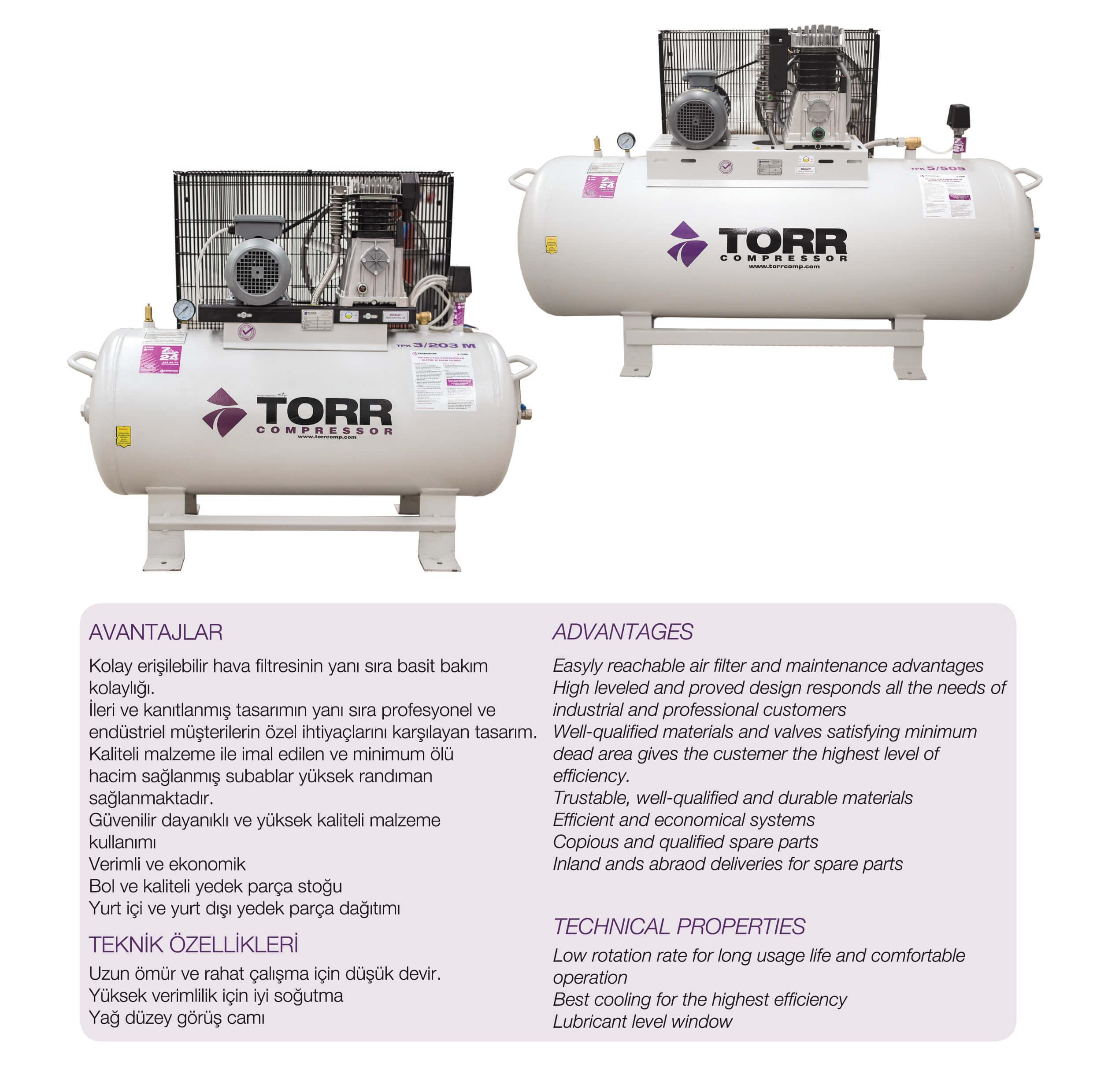 Torr TPK Pistonlu Hava Kompresörü-01